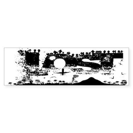 Lost Island White Bumper Sticker
