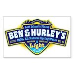 Ben & Hurley's Spring Water Sticker (Rectangle