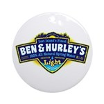 Ben & Hurley's Spring Water Ornament (Round)