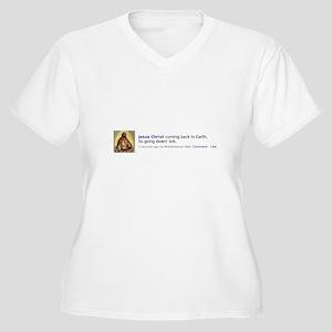 It's Going Down! Women's Plus Size V-Neck T-Shirt