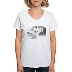 Maine Coon Kitten Women's V-Neck T-Shirt