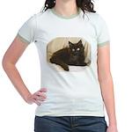 Maine Coon Kitten Jr. Ringer T-Shirt