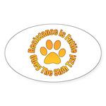 Shih Tzu Sticker (Oval 50 pk)