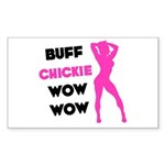 Buff Chickie... Sticker (Rectangle)