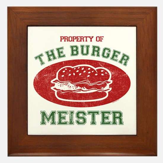 Property of Burger Meister Framed Tile