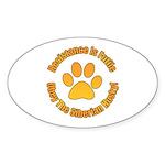Siberian Husky Sticker (Oval 10 pk)