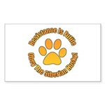 Siberian Husky Sticker (Rectangle 10 pk)