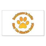 Siberian Husky Sticker (Rectangle)