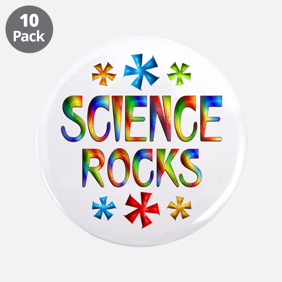 """Science 3.5"""" Button (10 pack)"""
