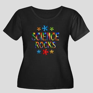Science Women's Plus Size Scoop Neck Dark T-Shirt