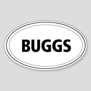 Buggs Oval Sticker