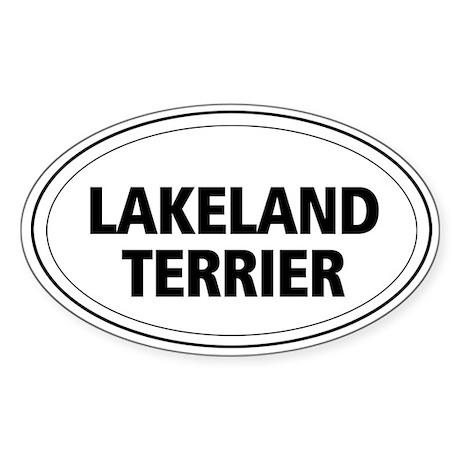Lakeland Terrier Oval Sticker