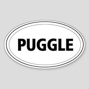 Puggle Oval Sticker