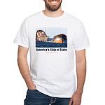 USS Obama White T-Shirt