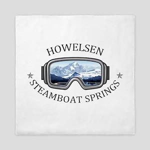 Howelsen Ski Area - Steamboat Spring Queen Duvet