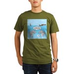 Shark Fast-Food Deliv Organic Men's T-Shirt (dark)