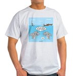 Shark Fast-Food Delivery Service Light T-Shirt
