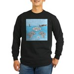 Shark Fast-Food Delivery Long Sleeve Dark T-Shirt