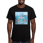 Shark Fast-Food Delive Men's Fitted T-Shirt (dark)