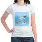 Shark Fast-Food Delivery Servic Jr. Ringer T-Shirt