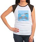 Shark Fast-Food Delive Junior's Cap Sleeve T-Shirt