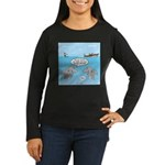 Shark Fast-Food D Women's Long Sleeve Dark T-Shirt