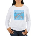 Shark Fast-Food Delive Women's Long Sleeve T-Shirt