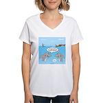 Shark Fast-Food Delivery Se Women's V-Neck T-Shirt