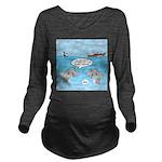 Shark Fast-Food Deli Long Sleeve Maternity T-Shirt