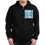 Shark Fast-Food Delivery Service Zip Hoodie (dark)