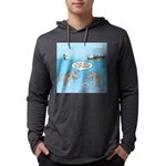 Shark Fast-Food Delivery Service Mens Hooded Shirt