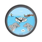 Shark Fast-Food Delivery Service Wall Clock