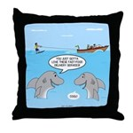 Shark Fast-Food Delivery Service Throw Pillow