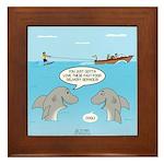Shark Fast-Food Delivery Service Framed Tile