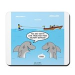 Shark Fast-Food Delivery Service Mousepad