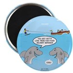 Shark Fast-Food Delivery Service Magnet