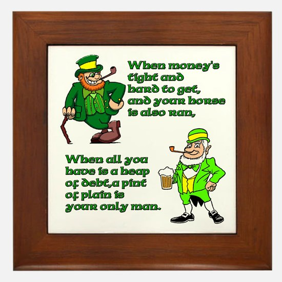 Irish Sayings, Toasts and Ble Framed Tile