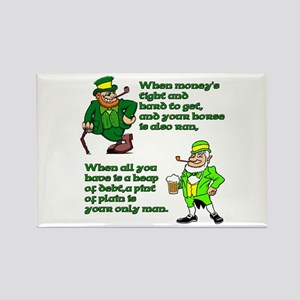 Irish Sayings, Toasts and Ble Rectangle Magnet