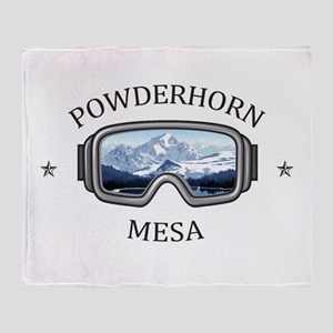 Powderhorn Resort - Mesa - Colorad Throw Blanket