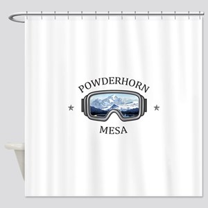 Powderhorn Resort - Mesa - Colora Shower Curtain