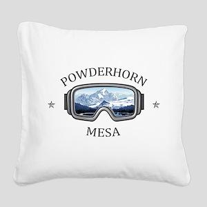 Powderhorn Resort - Mesa - Square Canvas Pillow