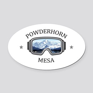 Powderhorn Resort - Mesa - Color Oval Car Magnet