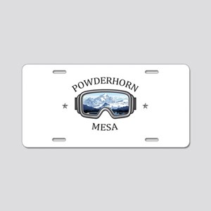 Powderhorn Resort - Mesa Aluminum License Plate
