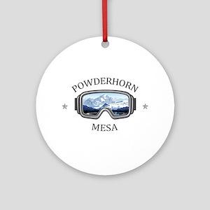 Powderhorn Resort - Mesa - Colora Round Ornament