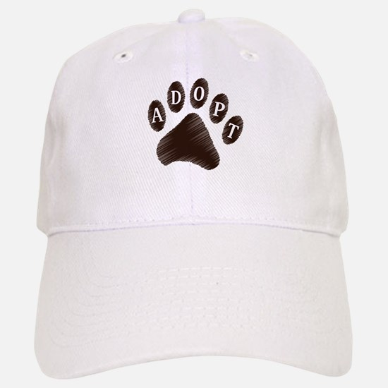 Animal Adoption Paw Baseball Baseball Cap