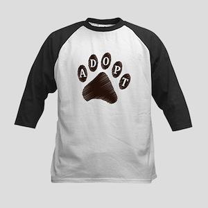 Animal Adoption Paw Kids Baseball Jersey