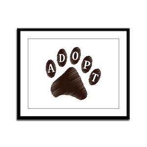 Animal Adoption Paw Framed Panel Print