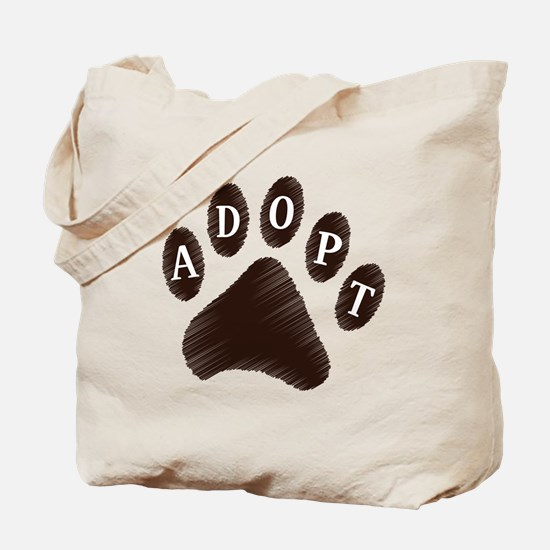 Animal Adoption Paw Tote Bag