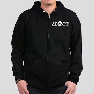 Adopt an Animal Zip Hoodie (dark)