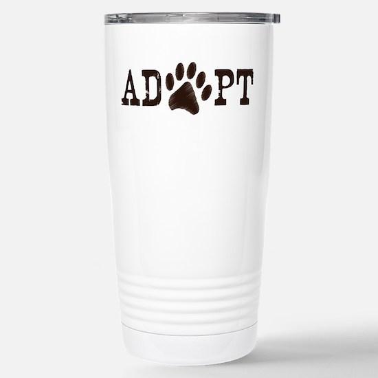 Adopt an Animal Stainless Steel Travel Mug